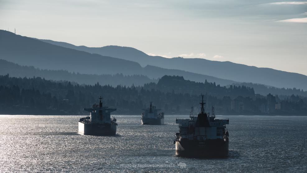 Good Morning, Burrard Inlet by Andrew Sommerfeld