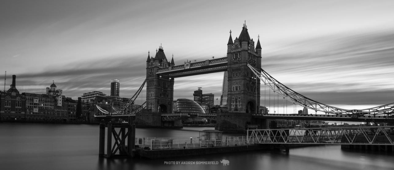 Tower Bridge, Long by Andrew Sommerfeld